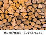material for heating the house. ... | Shutterstock . vector #1014376162