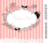 feminine doodles  gorgeous... | Shutterstock .eps vector #101437675