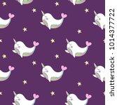 simple cute seamless pattern... | Shutterstock .eps vector #1014377722