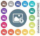 upload image flat white icons... | Shutterstock .eps vector #1014379882