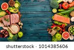 healthy food background....   Shutterstock . vector #1014385606