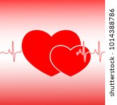 valentines day celebration card.... | Shutterstock .eps vector #1014388786