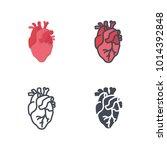heart medicine vector icon   Shutterstock .eps vector #1014392848