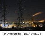 lunar eclipse on the background ...   Shutterstock . vector #1014398176