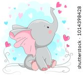 Cute Elephant  Vector...