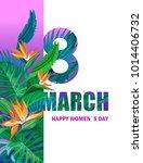 8 march. happy women s day.... | Shutterstock .eps vector #1014406732