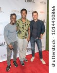 "Small photo of Shaka Smith, Ben Patterson, Aaron Schwartz attend ""Bilal- A New Breed Of Hero"" Los Angeles Premiere at The Pacific Design Center, Los Angeles, CA on January 30, 2018"