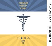 caduceus medical symbol | Shutterstock .eps vector #1014414046
