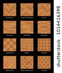 parquet floor pattern   most... | Shutterstock .eps vector #1014416398