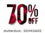 70  off discount promotion sale ... | Shutterstock . vector #1014416632