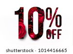 10  off discount promotion sale ... | Shutterstock . vector #1014416665