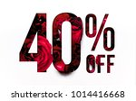40  off discount promotion sale ... | Shutterstock . vector #1014416668
