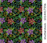 illustration of seamless... | Shutterstock .eps vector #1014417556