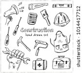construction hand drawn doodle... | Shutterstock .eps vector #1014417712