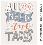 quote. all you need is love and ... | Shutterstock .eps vector #1014418276