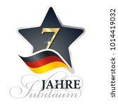 7 years anniversary  german... | Shutterstock .eps vector #1014419032