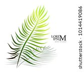 logo palm leaf. vector | Shutterstock .eps vector #1014419086
