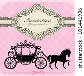 vintage luxury carriage  2  | Shutterstock .eps vector #101441986