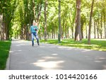 active old age. happy senior... | Shutterstock . vector #1014420166