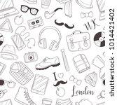 seamless background  pattern ... | Shutterstock .eps vector #1014421402