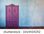 Space Rough Old Door  Wall Of...