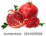 pomegranate isolated on white... | Shutterstock . vector #1014429028