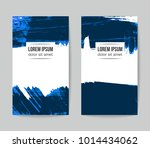 set of vector business card... | Shutterstock .eps vector #1014434062