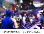 blurred scene of disco club... | Shutterstock . vector #1014434668