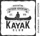 kayak club. vector illustration.... | Shutterstock .eps vector #1014435256
