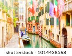 Beautiful Narrow Canal And...