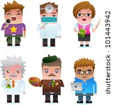professional occupation icons... | Shutterstock . vector #101443942