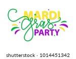 mardi gras party. vector... | Shutterstock .eps vector #1014451342