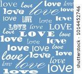 lettering design. love pattern... | Shutterstock .eps vector #1014452746