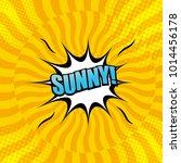 comic bright yellow template... | Shutterstock .eps vector #1014456178