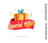 special offer shopping gift box | Shutterstock .eps vector #1014456922
