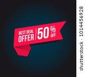 best deal offer 50  off tag | Shutterstock .eps vector #1014456928