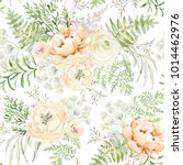 blush apricot spring bouquets... | Shutterstock .eps vector #1014462976