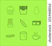 food and drink linear icon set. ... | Shutterstock .eps vector #1014468016