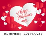 valentines day background with... | Shutterstock .eps vector #1014477256