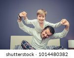 portrait of playful father and...   Shutterstock . vector #1014480382