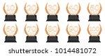golden trophy level cups 10  20 ... | Shutterstock . vector #1014481072