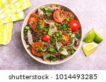 traditional indian cuisine.... | Shutterstock . vector #1014493285