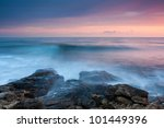 Beautiful Rocky Sea Beach At...