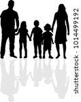 vector silhouette of family. | Shutterstock .eps vector #1014499192