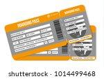 air tickets. boarding pass... | Shutterstock .eps vector #1014499468