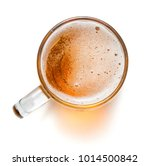 top view of mug with beer... | Shutterstock . vector #1014500842
