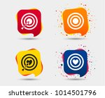 target aim icons. darts board... | Shutterstock .eps vector #1014501796