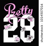 cute varsity graphic   Shutterstock .eps vector #1014507016