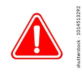 warning icon. white exclamation ... | Shutterstock .eps vector #1014513292