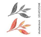 tea leaf hand drawing sketch. a ...   Shutterstock .eps vector #1014515248